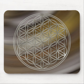 Flower of the life/Flower OF Life | more silver br Mouse Pad