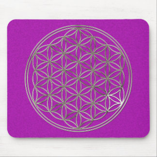 Flower of the life/Flower OF Life | more silver ma Mouse Pad