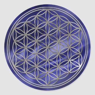 Flower of the life/Flower OF Life   more silver ro Classic Round Sticker
