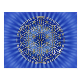 Flower of the life/Flower OF Life | more silver ro Postcard