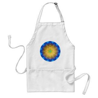 Flower of the life motive 10 apron