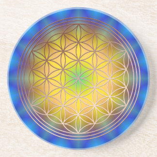 Flower of the life motive 10 drink coasters