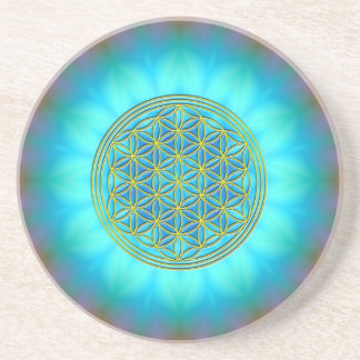 Flower of the life motive 11 drink coasters