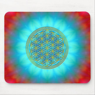 Flower of the life motive 11 mouse pad