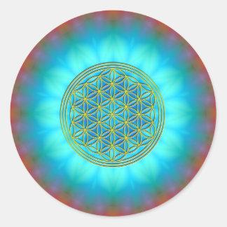 Flower of the life motive 11 round sticker