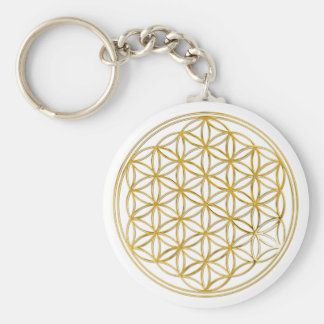 Flower of the life | small basic round button key ring