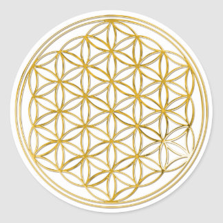 Flower of the life | small classic round sticker
