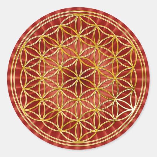 Flower of the life | small talk radially BG Classic Round Sticker