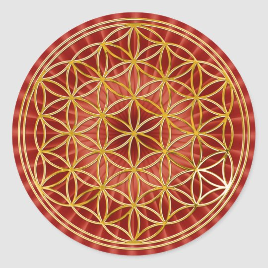 Flower of the life | small talk radially BG Round Sticker
