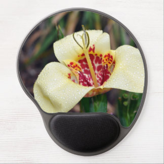 Flower of Tigridia pavonia or jockey's cap lily Gel Mousepads