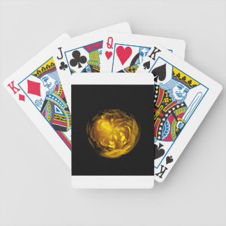 Flower of yellow in globe bicycle playing cards