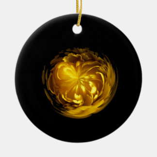 Flower of yellow in globe christmas ornament