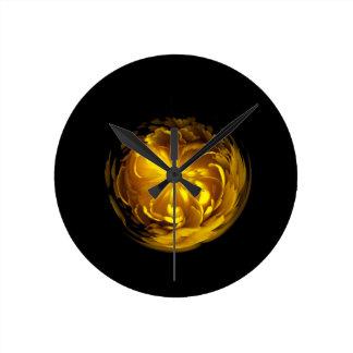 Flower of yellow in globe clocks
