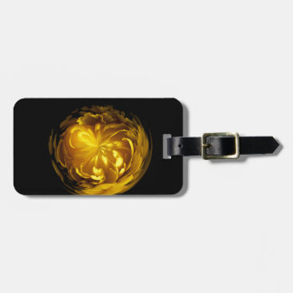 Flower of yellow in globe luggage tag