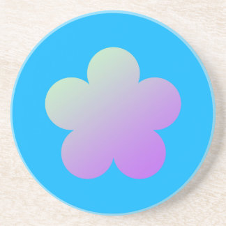 Flower on a blue background. coaster