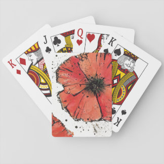Flower on a White Background Playing Cards