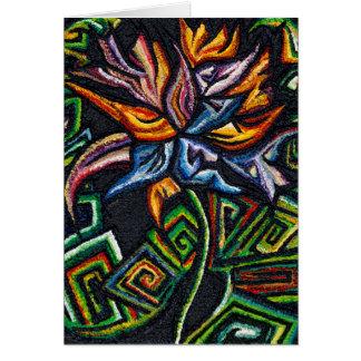 Flower on Black Greetings Card