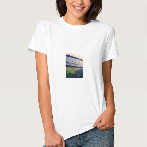 Flower on lake tee shirt