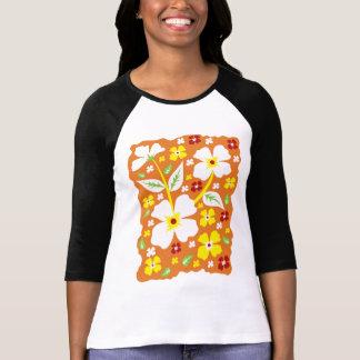 Flower on Orange T-Shirt