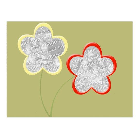 flower on stem 2-photo frame postcard
