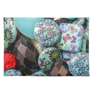 flower on stones placemat