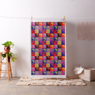 Flower on the wall design + your ideas fabric