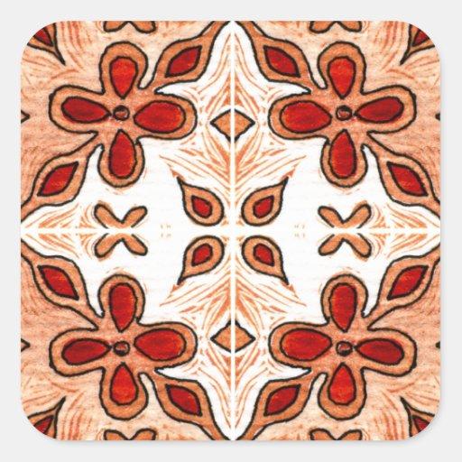 Flower Orange Inspired by Portuguese Azulejos Stickers