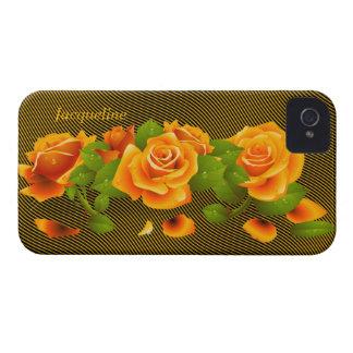 Flower Orange Roses iPhone 4 Case
