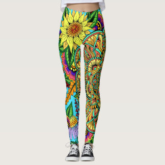 Flower Page Mandala Leggings