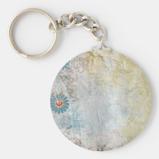 Flower painted Collage Key Chains