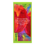Flower Painting Invitation Flyer Rackcard Art Personalised Rack Card