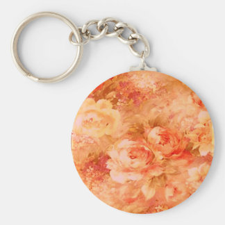 Flower Painting Key Chain