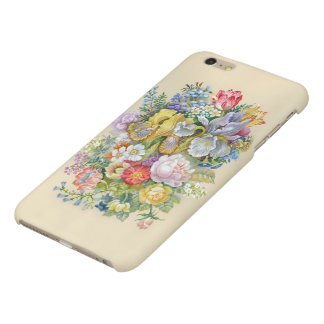 Flower Painting Matte iPhone 6 Plus Case