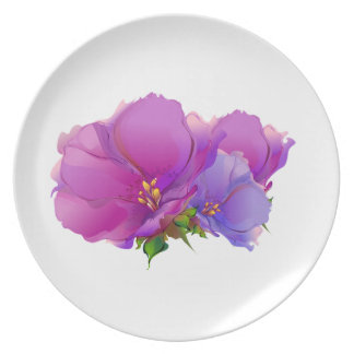 Flower Painting Mother's Day Gift Melamine Plates