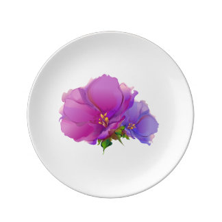 Flower Painting Mother's Day Gift Plates