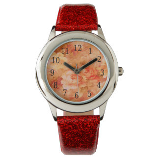 Flower Painting Watch