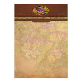 Flower - Pansy - Purple Posies jpg Invites