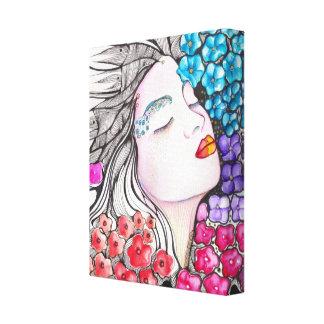 Flower Paradise Wrapped canvas Canvas Prints