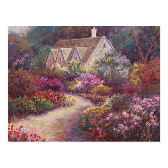 Flower Path Postcard