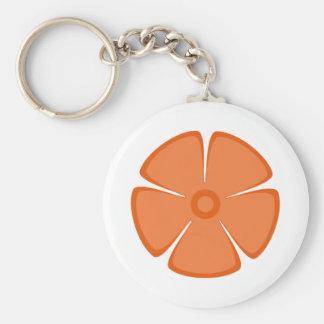 Flower Pattern 2 Celosia Orange Key Chain