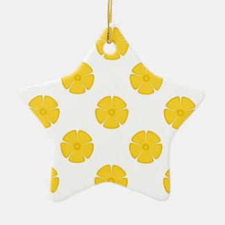 Flower Pattern 2 Freesia Ornaments