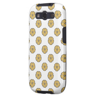 Flower Pattern 2 Misted Yellow Galaxy SIII Cases