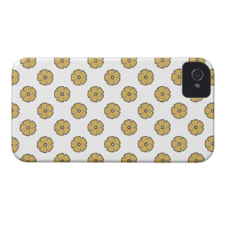 Flower Pattern 2 Misted Yellow iPhone 4 Cases