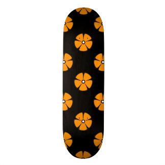 Flower Pattern 2 Orange Skateboard