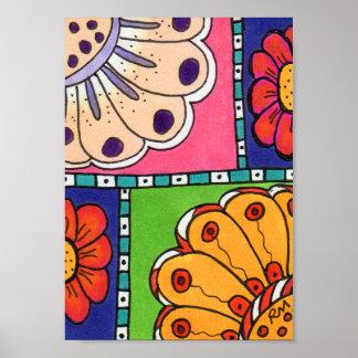 Flower Pattern 3 Abstract Art Mini Poster