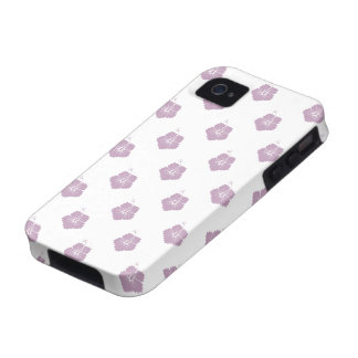 Flower Pattern 3 Mauve Mist Case-Mate iPhone 4 Cover
