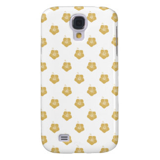 Flower Pattern 3 Misted Yellow Galaxy S4 Case