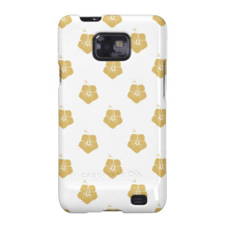 Flower Pattern 3 Misted Yellow Samsung Galaxy S2 Cases