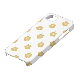 Flower Pattern 3 Misted Yellow iPhone 5 Cases