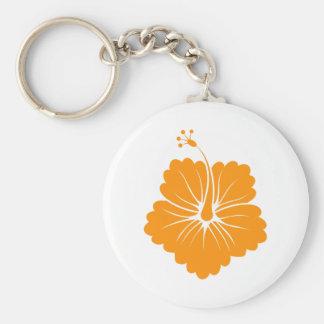Flower Pattern 3 Orange Keychain